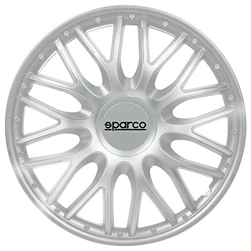 Sparco SPC1596SV Set Wheel Covers Roma 15-inch Silver