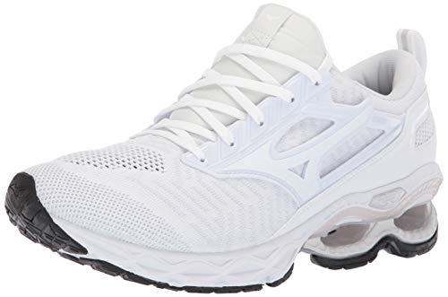 Mizuno Men's Wave Creation 20 Knit Running Shoe, White 10 D US