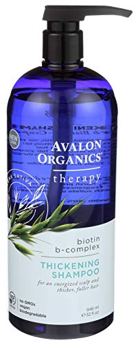 Avalon Organics Biotin B-Complex Thickening Shampoo, 32 oz(946 ml). (The Best Thickening Shampoo)
