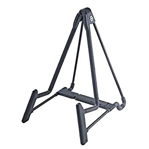 k m stands 17581b heli 2 electric guitar stand black musical instruments. Black Bedroom Furniture Sets. Home Design Ideas