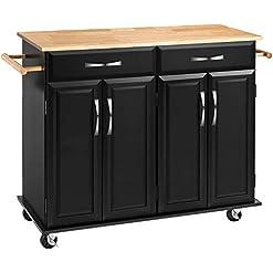 Kitchen Kitchen Islands with Storage, Kitchen Carts and Islands Rolling Kitchen Island Storage Cabinets with Drawers, Lockable… modern kitchen islands and carts