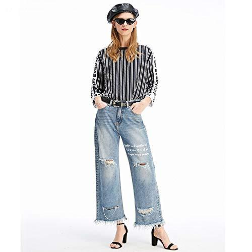 cher Jeans S L Femme MVGUIHZPO Weite Hosen Jeans Taille und Jeans Jeans Beine I7qqHfzw