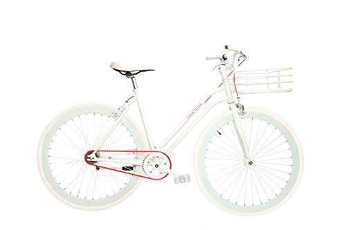 Martone Cycling Women's Real Bicycle, White, 44cm/One Size