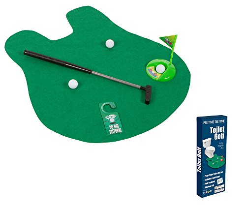 EZ DRINKER Toilet Golf - Putter Practice in The Bathroom Toy with This Potty Putter]()