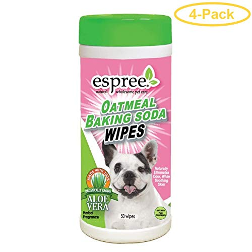 Espree Oatmeal Baking Soda Wipes 50 Count - Pack of 4