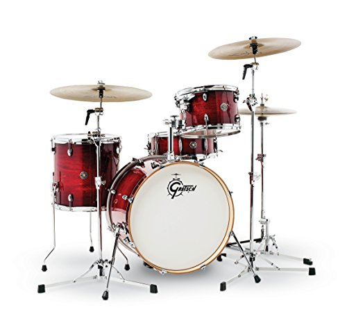 Gretsch Drums CT1-J404-GCB Catalina Club 4 Piece Drum Shell Pack, Gloss Crimson Burst