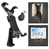 Yoassi Tripod Mount for iPad with Remote - Upgraded Universal Heavy Duty 360°Rotatable Anti-Wobble iPad Tripod Mount Adapter - iPad Holder for Tripod Fit for iPad12345Mini1234Air12Pro9.7 10.5 11 12.9