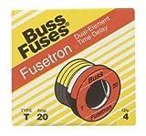 Bussmann T-20 20 Amp Type T Time-Delay Dual-Element Edison Base Plug Fuse, 125V UL Listed