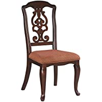 Ashley Gladdenville Dining Upholstered Side Chair in Brown Cherry D578-01 (Set of 2)