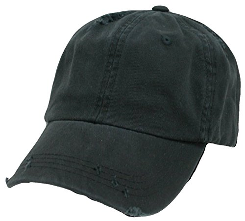 12Pk. Decky Vintage Polo Style Baseball Cap (One Size, Black) by DECKY
