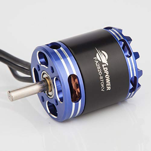 Crispsound LDPOWER Speed Shield FA2820 870KV 3-5S Brushless Motor for Fixed Wing RC Drone FPV Racing Quadcopter Glider Plane Spare Parts ()