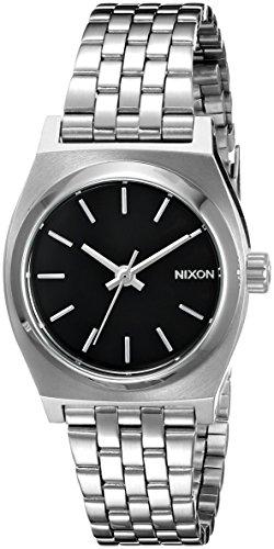 Nixon Women's A399000 Small Time Teller Analog Display Japanese Quartz Silver Watch
