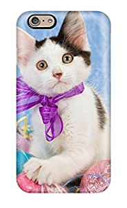 New Style Iphone 6 Hard Back With Bumper Silicone Gel Tpu Case Cover Easter Kitten