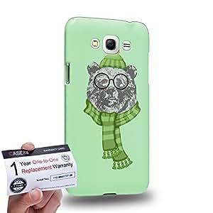 Case88 [Samsung Galaxy Grand Max] 3D impresa Carcasa/Funda dura para & Tarjeta de garantía - Art Design Ursus arctos Personate Animals