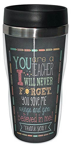 Special Teacher Mug - Tree-Free Greetings 78218 Jo Moulton Teacher Thanks Travel Mug, Stainless Lined Coffee Tumbler, 16-Ounce - Gift for Teacher Appreciation Week Day