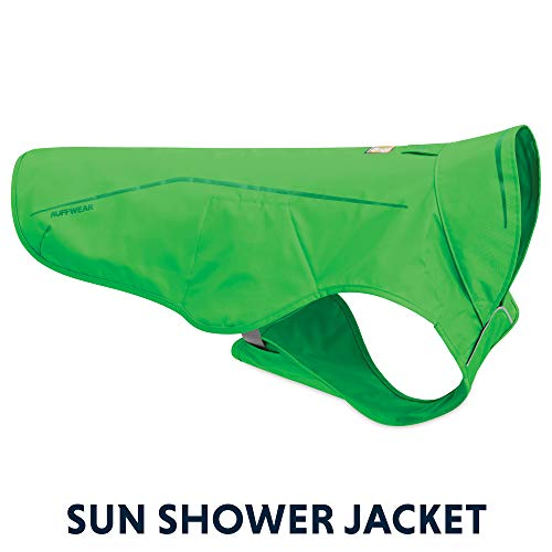RUFFWEAR - Sun Shower Lightweight Waterproof Rain Jacket for Dogs, Meadow Green, Medium