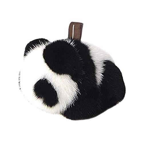 DELORESDKX Mink Fur Keychains, Women Fluffy Panda Bunny Key Chains Bag Charm Keyring for Handbags Car Decoration