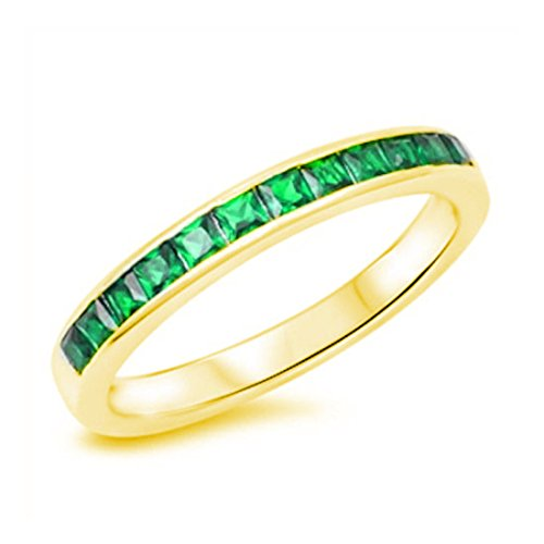 Yellow Gold Emerald Ring - 6
