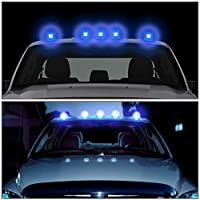 For Ford F150-F450 5 X LED Cab Roof Top Lights + Wiring + Switch (Black  Ford E Dome Light Wiring Diagram on