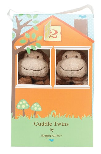 Angel Dear Cuddle Brown Monkey product image