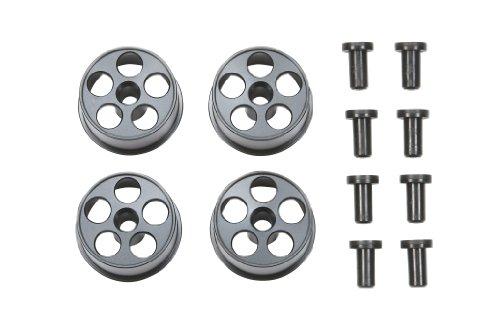 HG ローハイトタイヤ用アルミホイール(4本)(ブラック) 「ミニ四駆グレードアップパーツ」[94733]