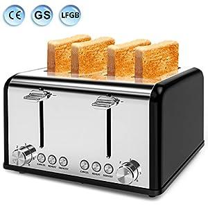 Toaster 4 Slice, Morpilot Toaster Stainless Steel Toaster