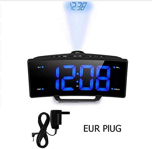 linfei Espejo Radio FM Reloj Despertador Led Mesa Digital Digital ...