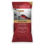 Granite Gold Sealer Wipes - Water-Based Stone Sealing to Preserve and Protect Countertops - 6 Count, White