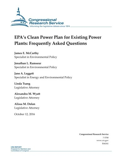 Download EPA's Clean Power Plan for Existing Power Plants: Frequently Asked Questions: R44341 pdf