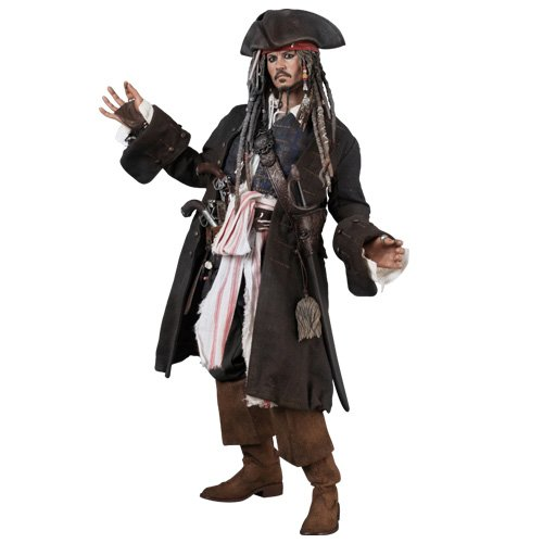 Pirates of the Carribean Hot Toys DX Movie Masterpiece 1/6 Scale Collectible Figure Jack ()