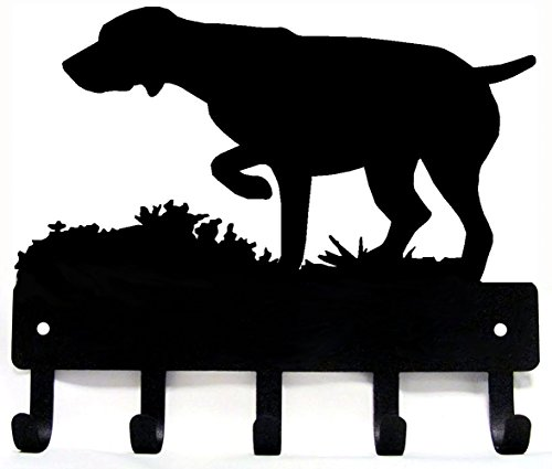 (GSP on Point - German Shorthaired Pointer Key Rack & Dog Leash Hanger Large 9 inch)