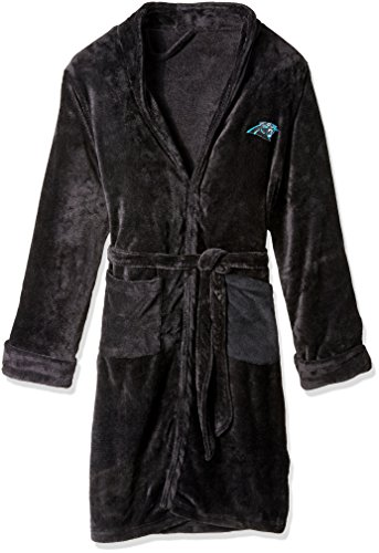 Silk Nfl Football - The Northwest Company Officially Licensed NFL Carolina Panthers Men's Silk Touch Lounge Robe, Large/X-Large