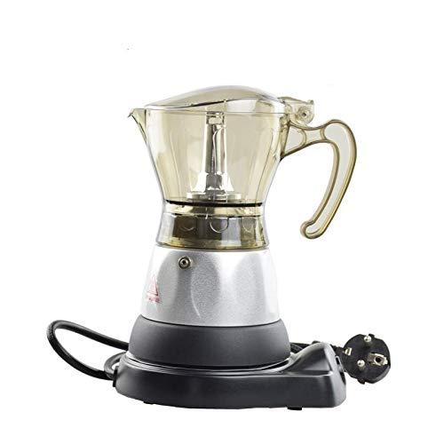 Funnytoday365 220V 50Hz Espresso Coffee Pots Electrical Moka Pot Eu Plug 3 Cups Counted Mocha Percolators Barista Maker by FunnyToday365