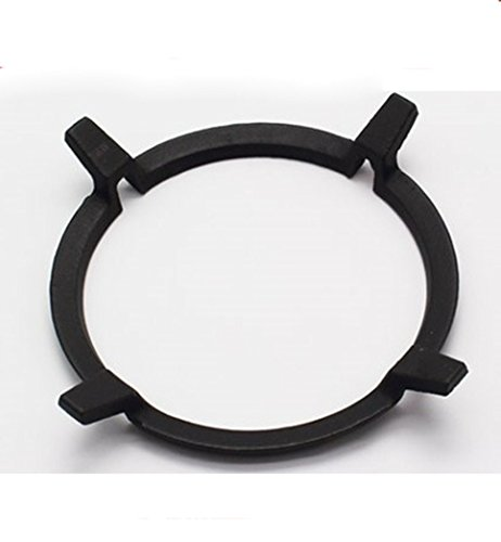 Ring Wok (Universal Non Slip Black Cast Iron Stove Trivets for Kitchen Wok Support Ring Cooktop Range Pan Holder Stand Stove Rack Milk Pot Holder for Gas Hob - Gas Stove accessories)