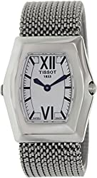 Tissot Women's T-Win T08.1.187.53 Silver Stainless-Steel Swiss Quartz Watch with White Dial