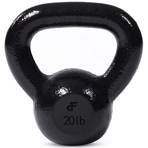 Day 1 Fitness Kettlebell Weights Cast Iron – 11 Sizes and Bundle Options, 5-60 Pounds – Ballistic Exercise, Core…