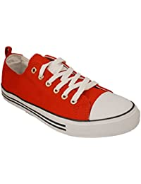 Women's Sneakers Casual Canvas Shoes Solid Colors Low Top...