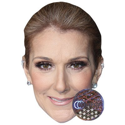 Celine Dion Celebrity Mask, Card Face and Fancy Dress Mask