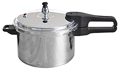 IMUSA USA Stovetop Aluminum Pressure Cooker Silver by Imusaa