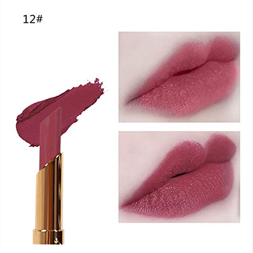 Orcbee  _Cosmetics Matte and Pumpkin Color Bean Paste Lip Solid Gloss Lipstick Long Lasting Beauty (L)