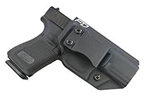 "Fierce Defender IWB (Inside Waistband) Kydex Holster Glock 19 23 32"" Winter Warrior Series (Black) GEN 5 Compatible!"