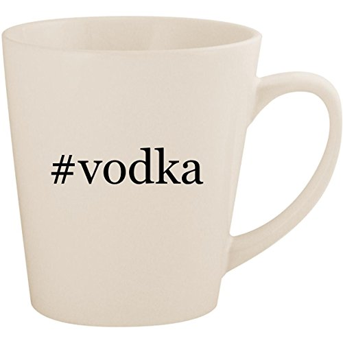 #vodka - White Hashtag 12oz Ceramic Latte Mug ()