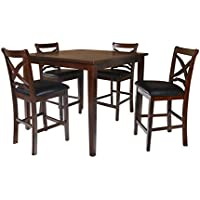 New Classic Milo 5 Piece Counter Set, Espresso