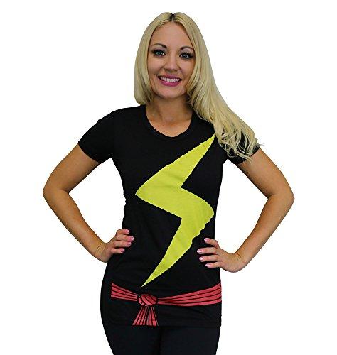Ms Marvel Costume - Ms. Marvel Women's Costume T-Shirt- Slim
