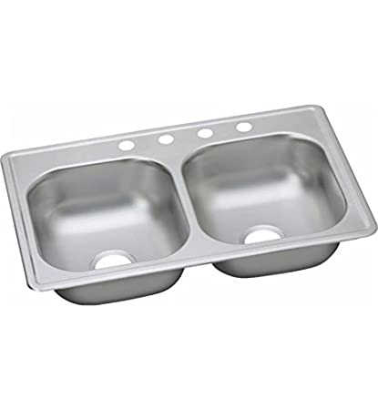 Elkay D233190 22 Gauge Stainless Steel Double Bowl Top Mount Kitchen on mobile home kitchen sinks 33 by 18, mobile home decorating ideas, mobile home replacement sinks, mobile home stainless steel sink, mobile home remodeling ideas, mobile home kitchen sinks 33 x 17,