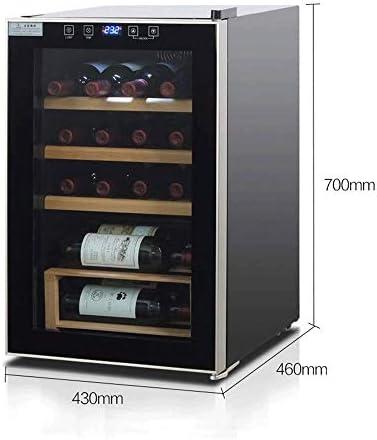 YFGQBCP Enfriador de Vino y refrigerador, 30 Botella Independiente Enfriador de Vino Nevera, Acero Inoxidable con Puerta de Cristal