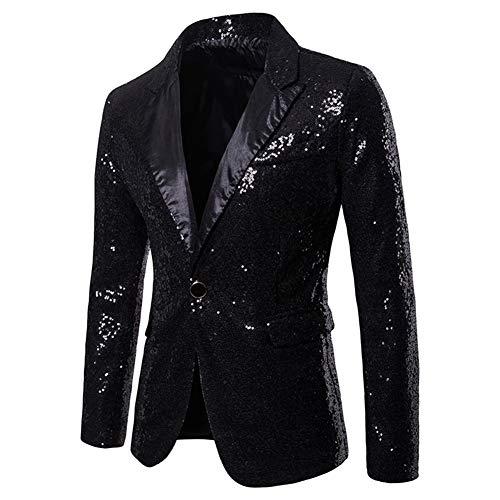 Elegante glitter uomo cerimonia nera Giacca da Blazer 8CFWqw7nI