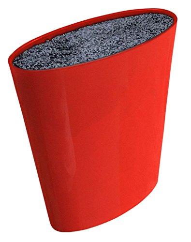 Melange Moderno Knife Block, Red