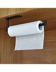 Köksrullehållare utan borrning kökspappershållare för kökshanddukar, rostfritt stål, matt, 30 cm, svart