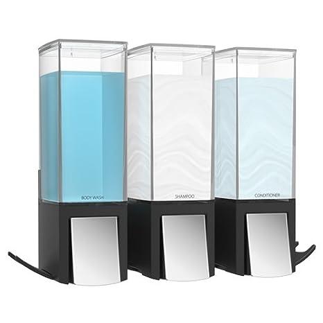 Better Living Clever3 Triple dispensador de jabón 3 x 500 ml de capacidad - fácil y segura fijación sin necesidad de tornillos: Amazon.es: Hogar